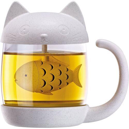 """Winkee Teeglas »Teeglas """"Katze"""" mit integriertem Tee-Ei«"""