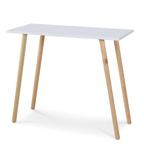 Homestyle4u Konsolentisch, Wandkonsole weißer Tisch