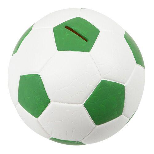 HMF Spardose »4790«, Fußball in Lederoptik, 15 cm Durchmesser, grün