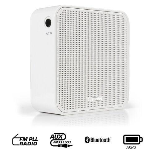 AudioAffairs Radio (UKW, Steckdosen Radio mit Bluetooth), weiß