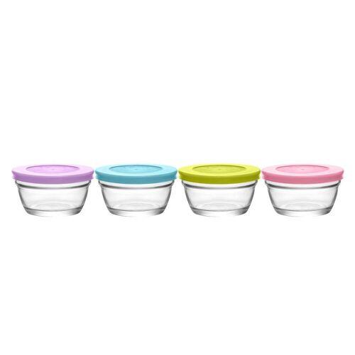 LAV Frischhaltedose »Aufbewahrungs-Schalen Set«, Glas, (4-tlg)