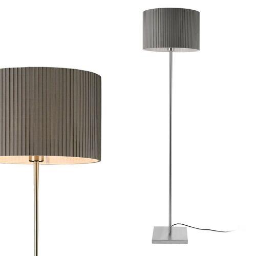 lux.pro Stehlampe, Stylische Stehleuchte »Coimbra« - Grau - 1x E27