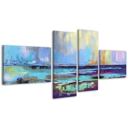 ART YS-Art Gemälde »Azurblaues Scheinen 037«