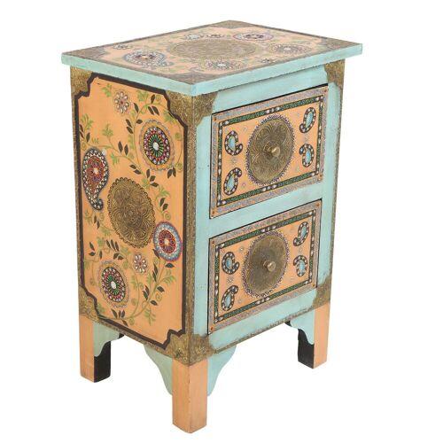 Casa Moro Kommode »Orientalische handbemalte Kommode Sunita 40x30x60 cm (B/T/H)« (1 St), handbemalt mit Paisley Muster