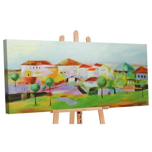 ART YS-Art Gemälde »Das Städchen 066«