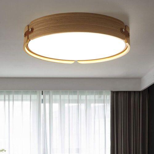 ZMH Deckenleuchte »LED Deckenlampe Holz Rund aus Walnuss Holz 26W Ø42CM für Wohnzimmer, Schlafzimmer, Esszimmer«