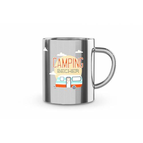La Vida Tasse »Thermobecher Thermotasse Isolierbecher Camping Kaffeetasse Edelstahl Auswahl: Camping 538611«, Camping 538611