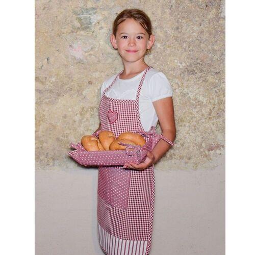 matches21 HOME & HOBBY Kochschürze »Kinderschürze Kinder Kochschürze Landhaus Herz«, (1-tlg), rot
