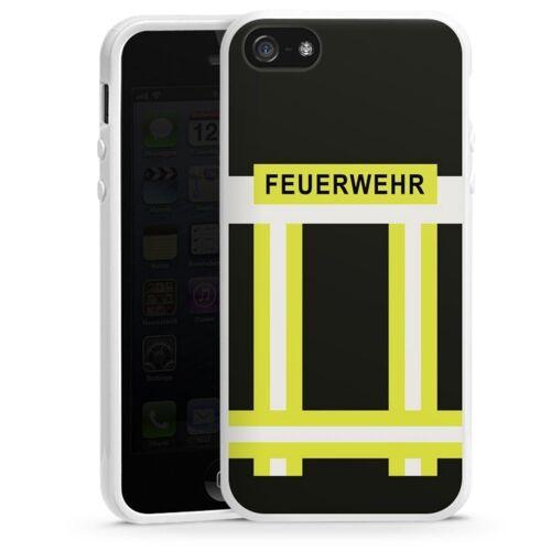 DeinDesign Handyhülle »Feuerwehr« Apple iPhone 5s, Hülle Feuerwehr Feuerwehrmann Beruf, weiß