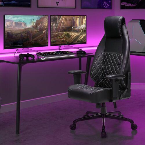 SONGMICS Gaming Chair »RCG35BK« Gaming Stuhl, Bürostuhl, schwarz