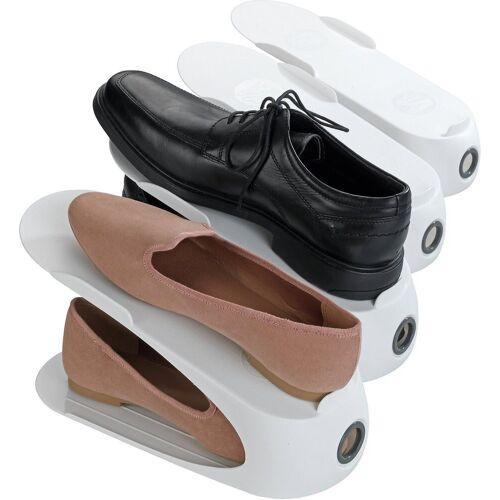 WENKO Aufhängesystem »4er-Set Schuhhalter«, weiß