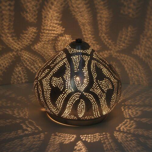 Casa Moro Nachttischlampe »Orientalische Stehlampe Qahira D22 Silber«