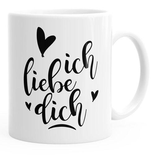 MoonWorks Tasse »Kaffee-Tasse Ich liebe dich Geschenk-Tasse Herz Liebe Geschenkidee Freund Freundin ®«, weiß