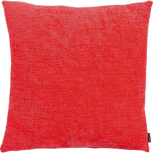 Linen & More Kissenhüllen »Kissenhülle Chenille 45 x 45 cm«, , rot