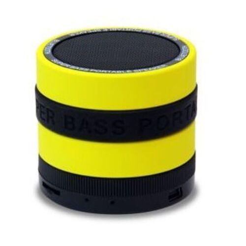Conceptronic Lautsprecher »Wireless Bluetooth Super Bass Speaker«, Gelb-Schwarz