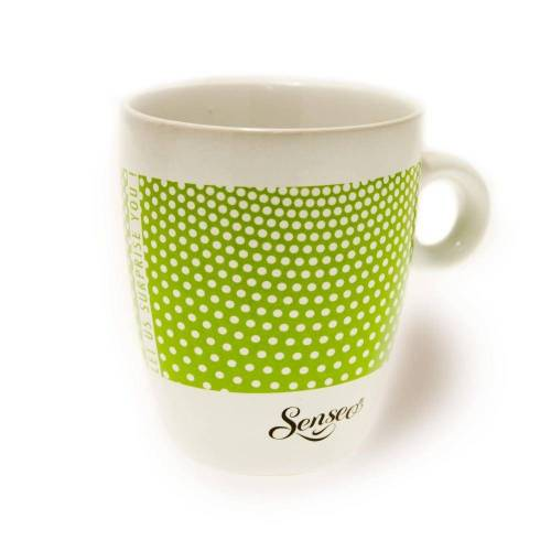 Senseo Becher »Kaffeebecher mit Henkel, weiß - grün, 180 ml«
