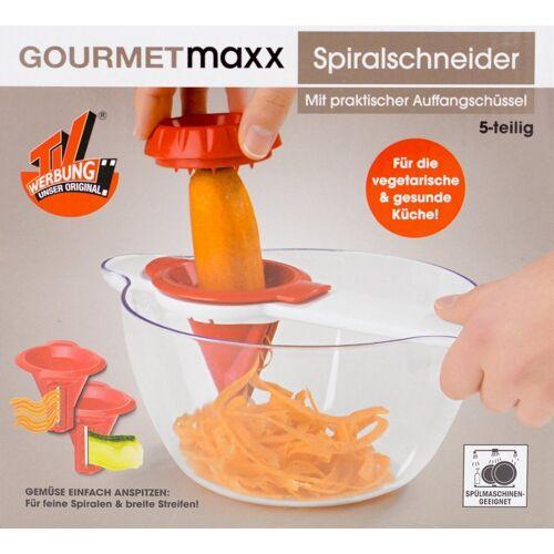 GOURMETmaxx Spiralschneider, Gourmet Maxx Spiralschneider + Schüssel Gemüse Schneider Zerkleinerer Schäler
