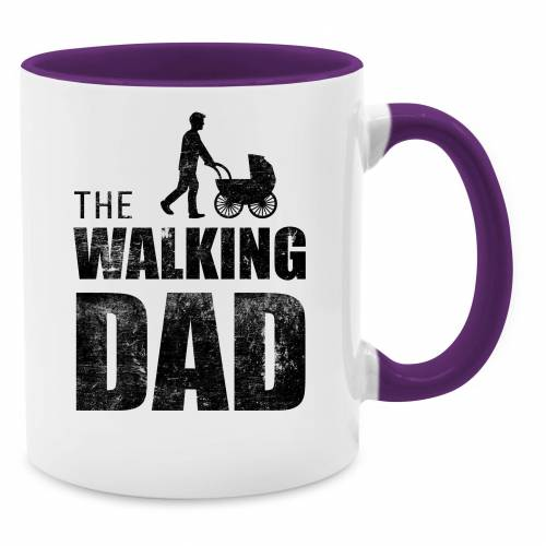 Shirtracer Tasse »The Walking Dad - Tasse zweifarbig - Tassen«, Vatertagsgeschenk, 13 Lila