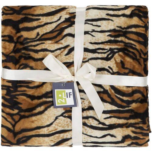 """2LIF Wohndecke »Wohndecke """"Tiger"""" 145x180 cm«,"""
