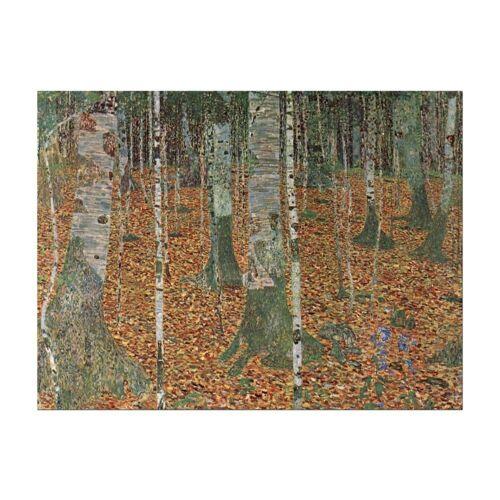 Bilderdepot24 Leinwandbild, Gustav Klimt - Birkenwald