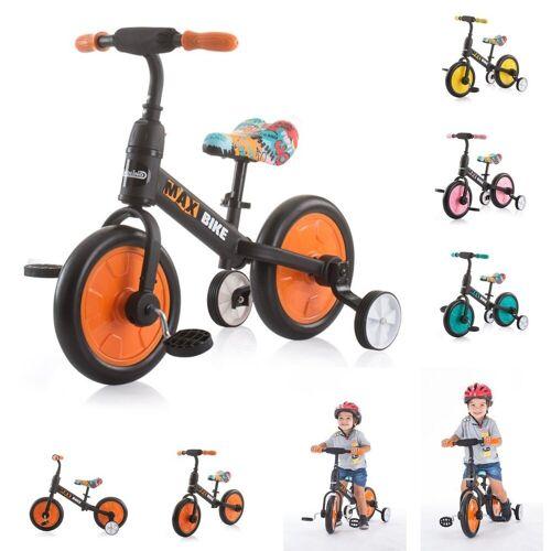 Chipolino Laufrad »Dreirad, Laufrad 2 in 1 Max Bike« 10 Zoll (25,40 cm) Zoll, 10 Zoll Räder, Pedale, Stützräder, orange