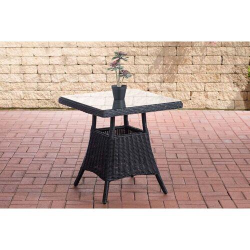CLP Gartentisch »Vaulen«, quadratischer Gartentisch aus Polyrattan, schwarz