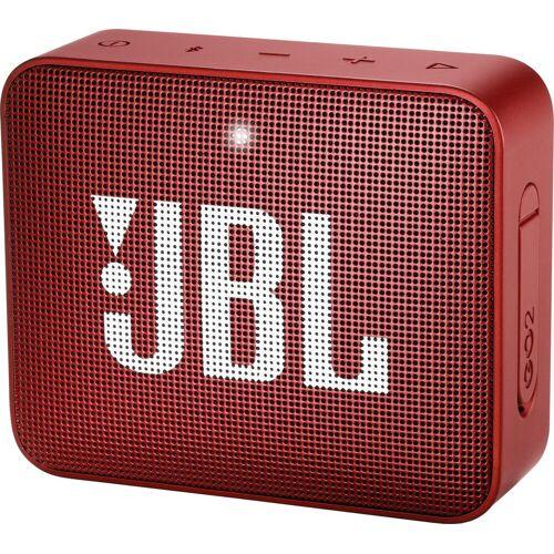 JBL GO 2 Portable-Lautsprecher (Bluetooth, 3 W), rot