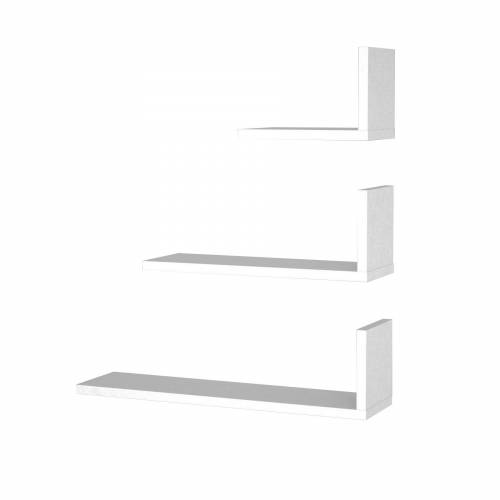 moebel17 Wandregal »Wandregal Atlas Weiß«, Platzsparend