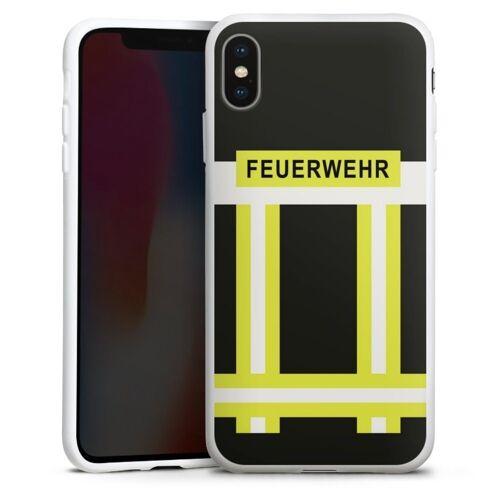 DeinDesign Handyhülle »Feuerwehr« Apple iPhone Xs Max, Hülle Feuerwehr Feuerwehrmann Beruf, weiß