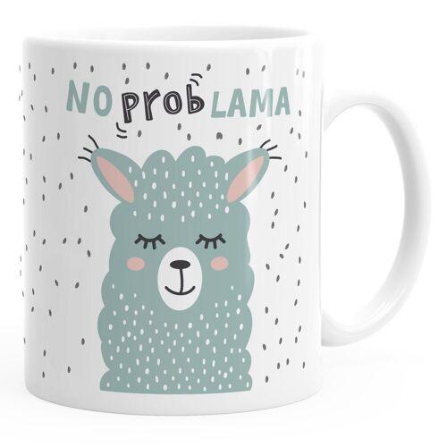 MoonWorks Tasse »Kaffee-Tasse mit Spruch No Prob Lama Motiv lustig Bürotasse lustige Kaffeebecher ®«