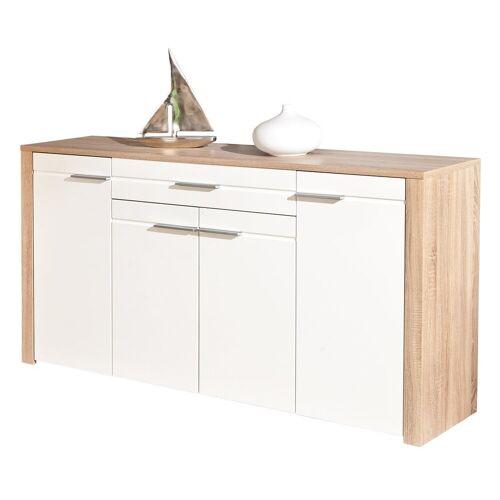 ebuy24 Sideboard »Abcent Sideboard 1 Schublade, 4 Türen Sonoma Eiche«
