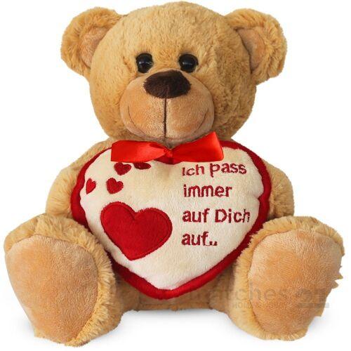 matches21 HOME & HOBBY Plüschfigur »Teddybär Herz Herzteddy Ich Pass Auf Dich Auf« (1-St)