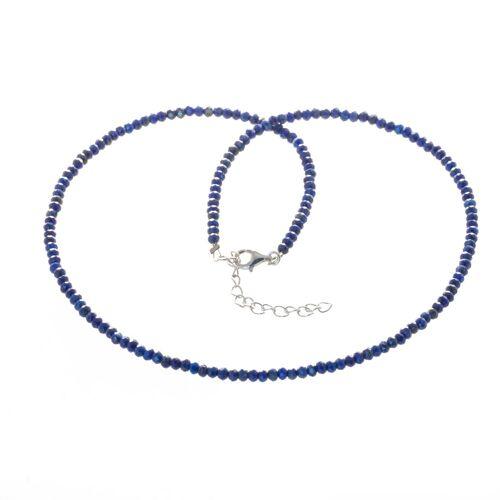 Bella Carina Perlenkette »Lapislazuli 3 mm«, Lapislazuli facettiert