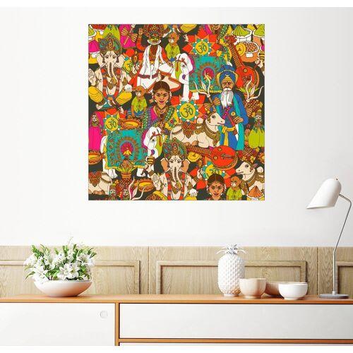 Posterlounge Wandbild, Indisches Muster
