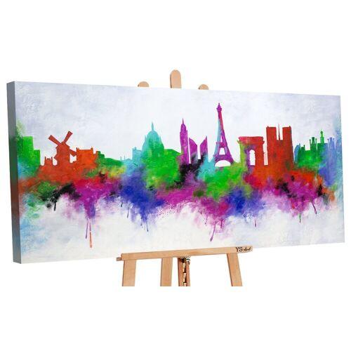 ART YS-Art Gemälde »Stadt der Liebe II 164«