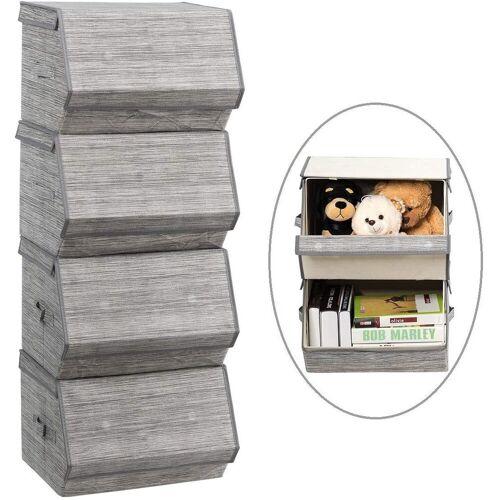 COSTWAY Faltbox »Aufbewahrungswürfel Aufbewahrungskiste« (4 Stück), 4er Set, stapelbar