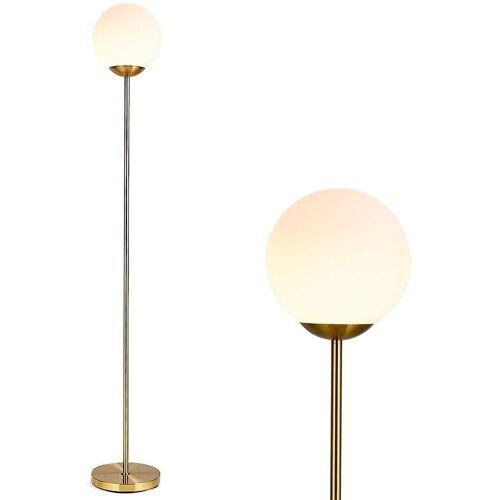 COSTWAY Stehlampe »Stehleuchte Stehlampe«, Antikmessing + weiß