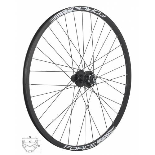 "FORCE Fahrrad-Laufrad »27.5"" MTB Hinterrad DISC f. Kassette 8-11«"
