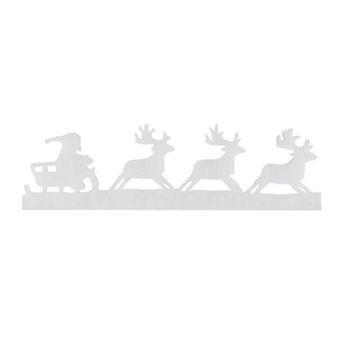 VBS Bild »Girlande Rentierschlitten weiß«, 185 cm lang