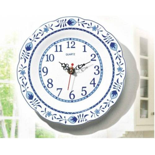 JOKA international Wanduhr »Wanduhr Keramik mit Zwiebelmuster, Ø 20 cm«