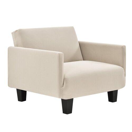 neu.haus Sofahusse, , 70-120cm Sandfarben Sofabezug 1-Sitzer, sandfarben