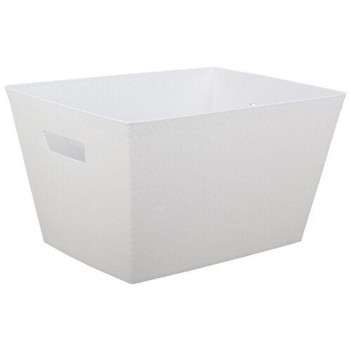 ONDIS24 Aufbewahrungsbox »Aufbewahrungsbox Otello Nähekiste Handtuchbox Tragekorb 30 Liter«, 30 liter, Weiß
