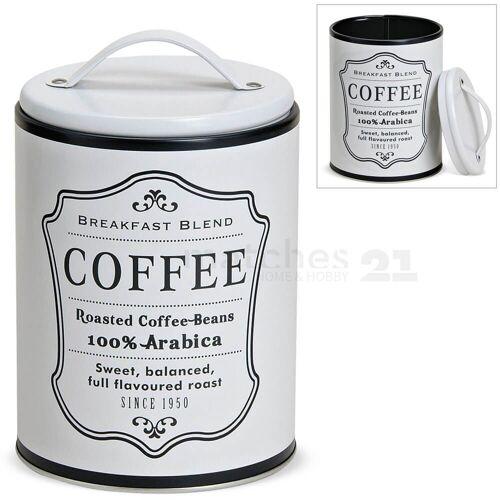 matches21 HOME & HOBBY Vorratsdose »Vorratsdose Retro Kaffee«, Metall, (1-tlg)
