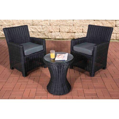 CLP Gartenmöbelset »Sitzgruppe Fiori«, wetterfest und UV-beständig, schwarz