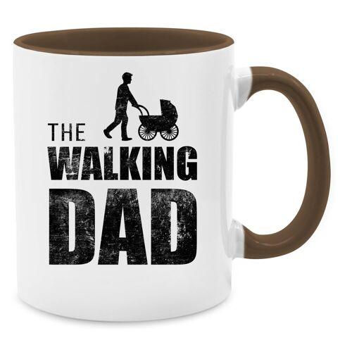 Shirtracer Tasse »The Walking Dad - Tasse zweifarbig - Tassen«, Vatertagsgeschenk, 15 Braun