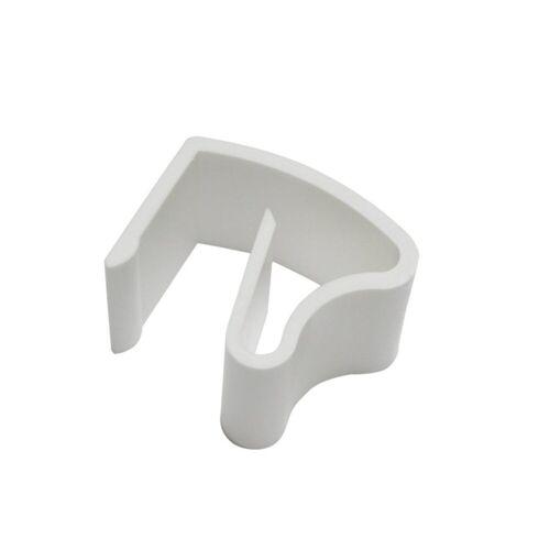 GARDINIA Gardinenstange »Klemmhalter Kunststoff weiß 2er Pack«,