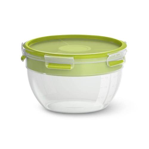 Emsa Salatbox »Rund CLIP & GO Kunstoff 2.6 L«, Kunststoff, (1-tlg)