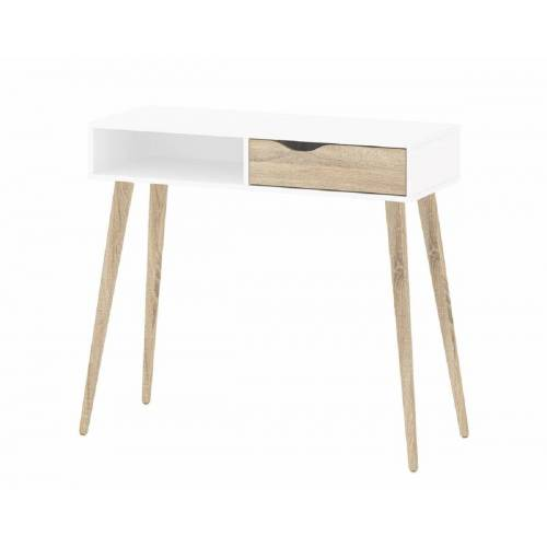 ebuy24 Schreibtisch »Napoli Schreibtisch mit 1 Schublade und 1 Ablage w«