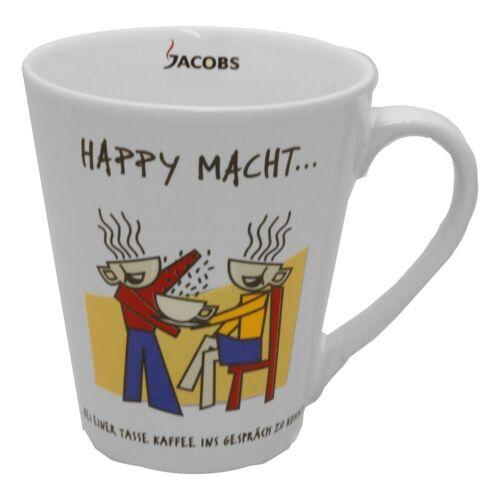 JACOBS Becher »Kaffeebecher mit Henkel, HAPPY MACHT, 250 ml«