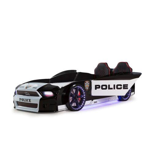 Möbel-Lux Kinderbett »Must Rider«, Autobett Must Rider Police 500 mit Türen inkl. Sound Sirene